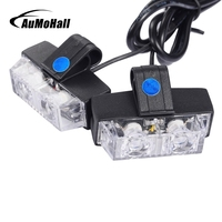 AuMoHall 8Pcs/set LED Car Strobe Lights 16W Wire Control Super Power LED Strobe Emergency Flash led Warning Light