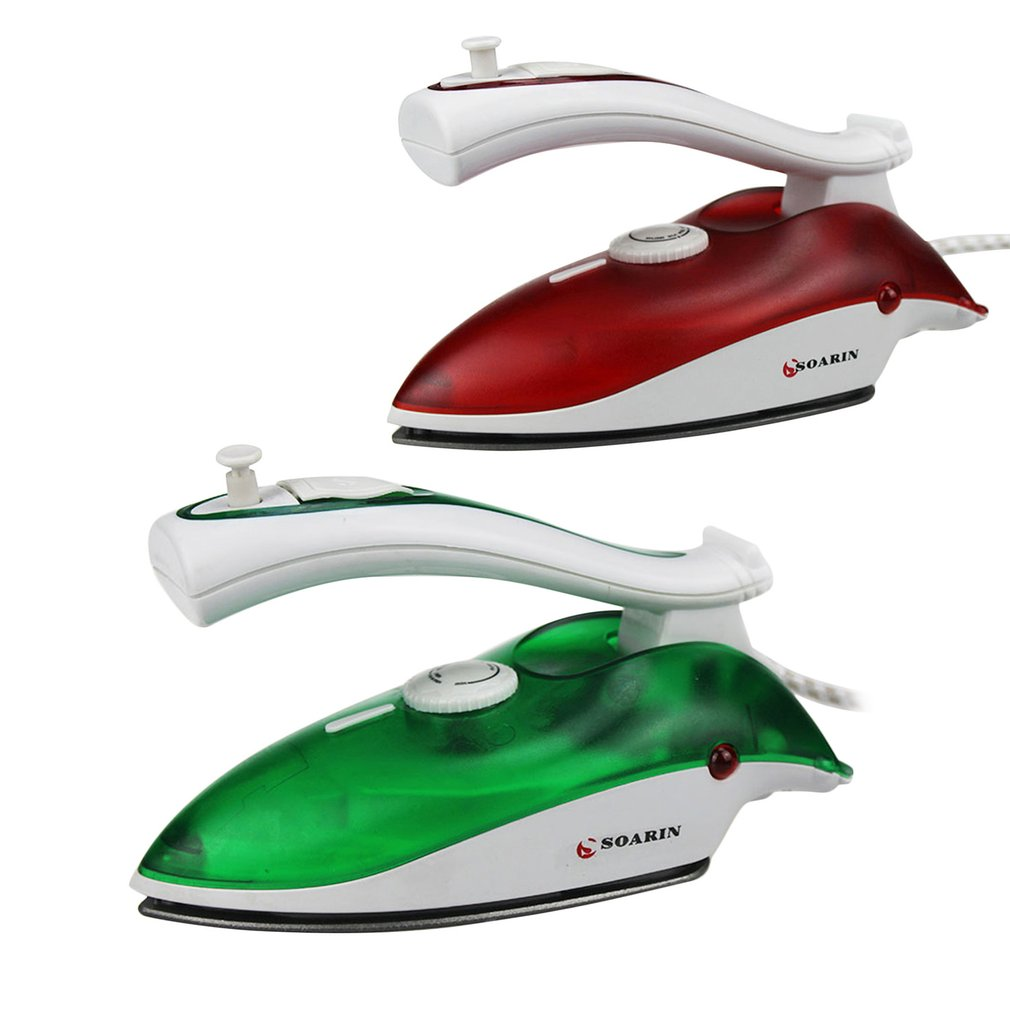 Mini Portable Electric Steam Iron Clothes Iron Steamer Teflon Baseplate Foldable Handheld Flatiron For Home Traveling