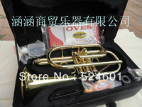 Wholesale manufacturer of musical instrument selling students B the cornet trumpet instrument surface gold