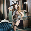 9731 2017 New Arrival Bunny Costume Role Playing Clothing Sexy Lingerie Hot Lace Bunny Rabbit Uniforms Sexy Costumes