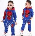 Marvel Comic Classic Spiderman Niño con Traje de Juego de Los Deportes 2 Unidades Set Chándales de Los Niños Que Arropan la Capa + pant Para 2-7y