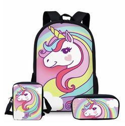 Jednorożec drukowanie plecak dla dziewcząt chłopców do szkoły  Cartoon dziecięce plecaki  słodkie plecak dla dzieci powrót torby mochila