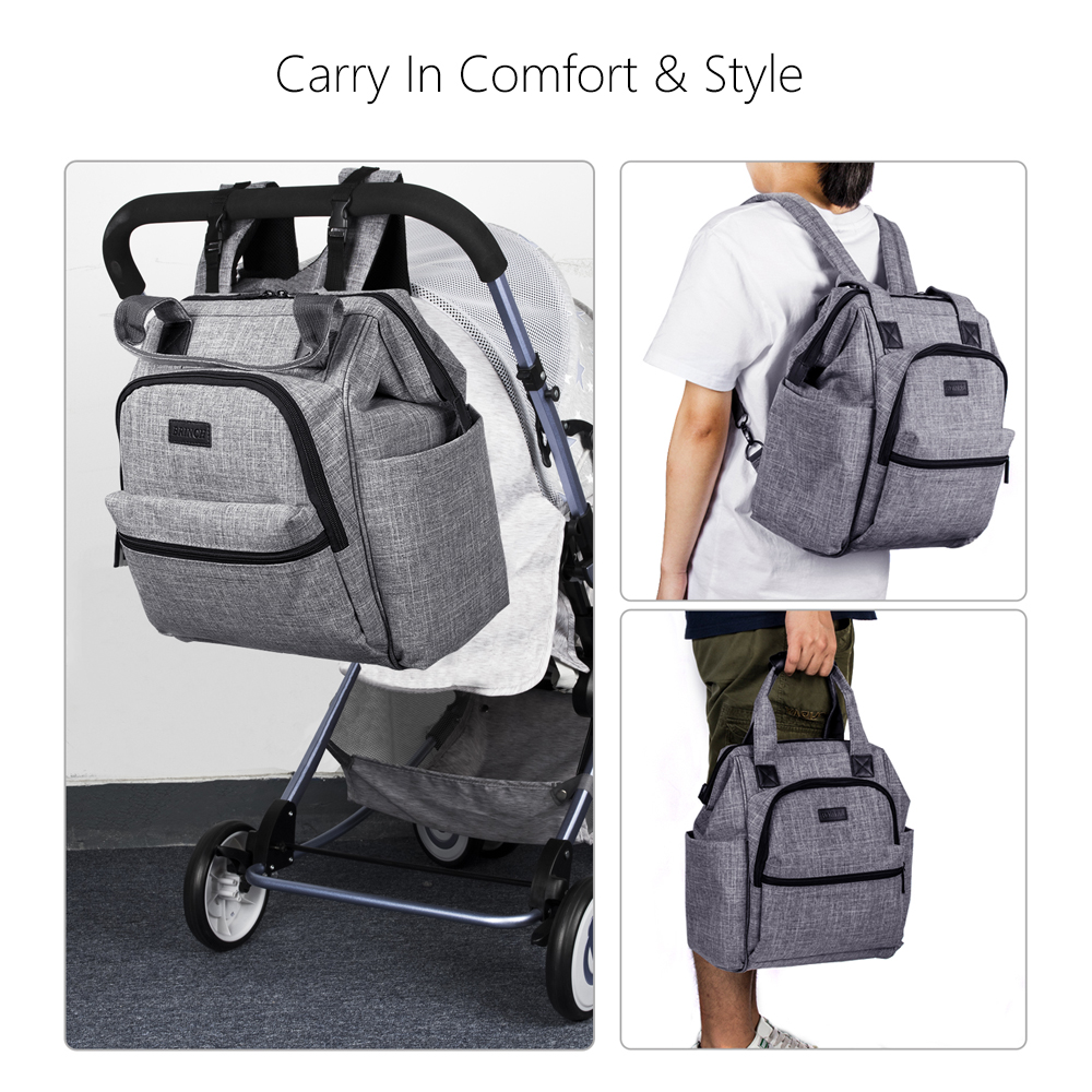 Brinch Multifunctional Diaper Bag For Mother Baby Ny Backpack Large Capacity Mummy With Changing Pad Stroller Straps In Bags From