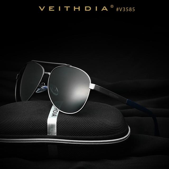 Veithdia marca melhor liga acessórios de lente polarizada óculos de sol dos homens de condução óculos de pesca condução óculos de sol para homens 3585