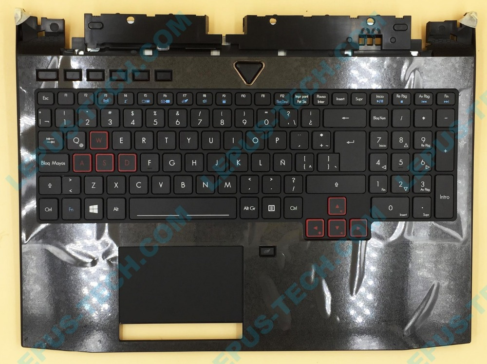 цена на Brand New Latin SP LA backlight keyboard for ACER Predator 15 G9-591 G9-592 G9-593 with palmrest backlit touchpad keyboard