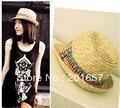 Женская мода Широкий Большой Брим Floppy чехии Японии Beach Sun Соломенная Шляпка Cap Бесплатная Доставка