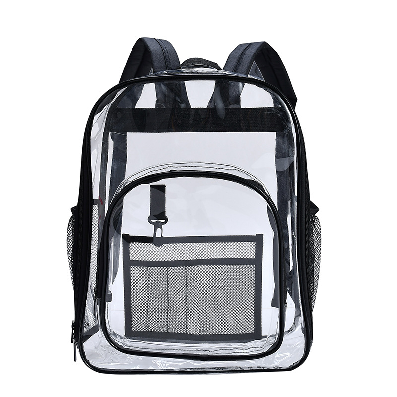 3PCS / LOT Women Clear Transparent PVC <font><b>Backpack</b>