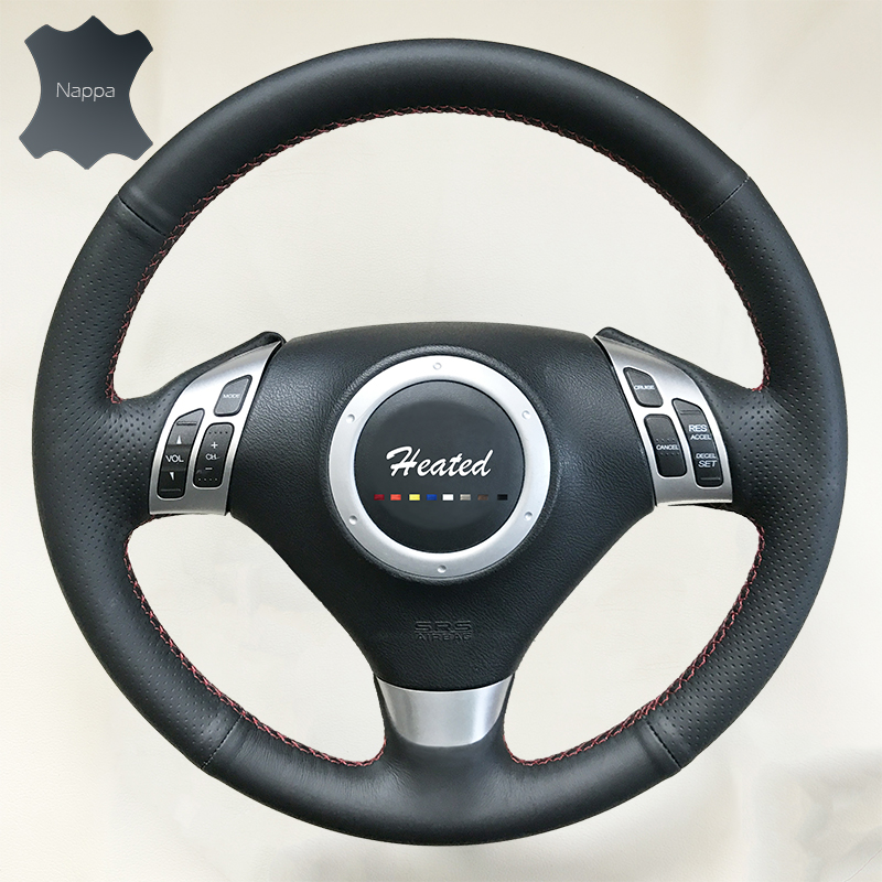 Nappa leather Auto Car Steering Wheel Cover for Honda Odyssey Braid on the steering wheel Car Styling Genuine Leather cover