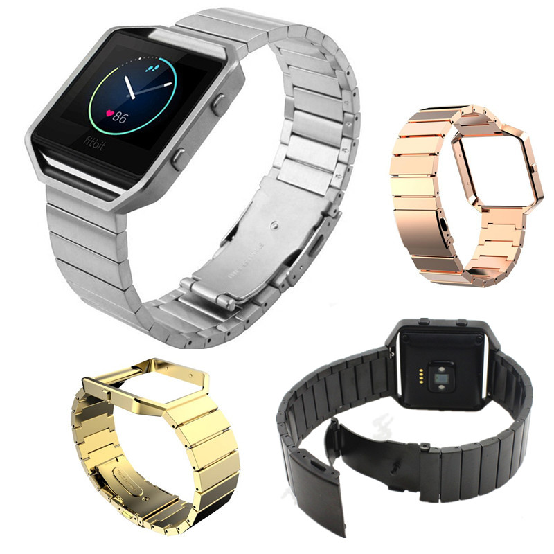 Metal Frame Housing + Stainless Steel Bracelet Strap Band with Magnet Lock for Fitbit Blaze все цены