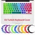 Турецкая Силиконовые Цветок Наклейка Радуга Клавиатуры Крышка Клавиатуры Протектор Кожи Для Apple Mac Macbook Pro 13 15 17 Air 13 макет ЕС