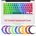 Turkish Silicone Flower Decal Rainbow Keyboard Cover Keypad Skin Protector For Apple Mac Macbook Pro 13 15 17 Air 13 EU layout