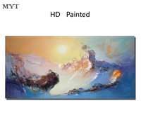 MYT Frameless Winter Snow DIY Painting By Numbers Coloring Oil Painting On Canvas Drawing Home Artwork