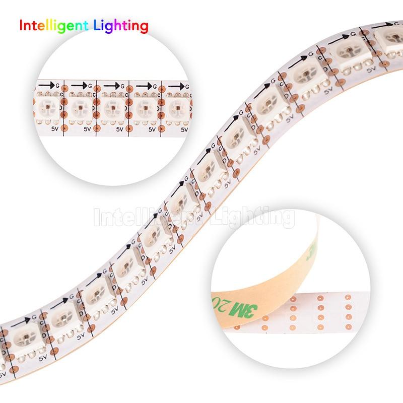 1 M/5 M SK9822 (similar APA102) 30/60/144 LEDs/pixeles/M, tira digital LED individual direccionable impermeable IP30/IP65/IP67 DC5V