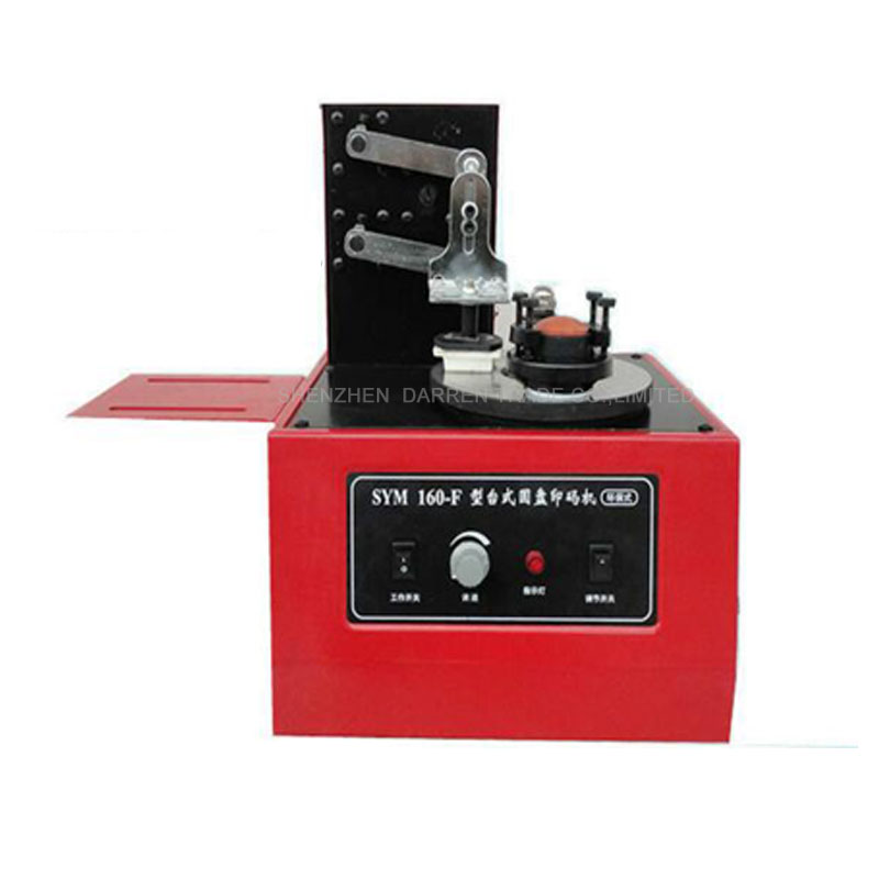 SYM160 220V Desktop Electric Pad Printer Round Pad Printing Machine Ink Printer