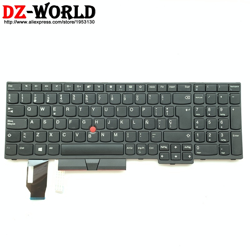 New LAS ES Spanish Keyboard For Lenovo Thinkpad E580 E585 E590 E595T590 L580 L590 P52 P72 Laptop Teclado 01YP570 01YP730