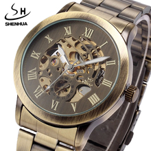 2020 SHENHUA Top Brand Retro Mechanical WristWatches Men Stainless steel Automatic
