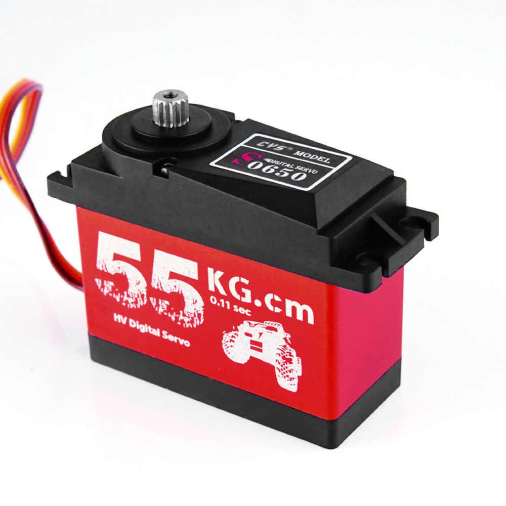 CYS-S0650 большой 55 кг HV высокий крутящий момент металлическая передача цифровая сервопривод для RC Автомобиль Лодка Самолет HPI Rovan km Baja 5B 5 т RC сервопривод