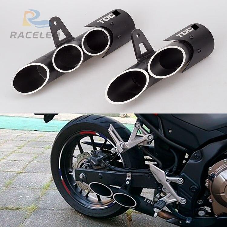 Motorradauspuff 36-51mm universal modifizierte abgas für toce auspuff z900 zx6r R6 cbr500r gsxr1000r doppellöchern auspuff