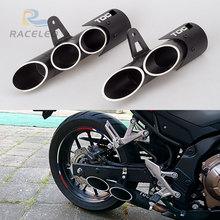motorcycle exhaust 36-51mm universal modified for toce  z900 zx6r R6 cbr500r gsxr1000r double holes