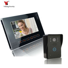 Yobang Security Freeship 9inch Wired Video Door Phone Color Monitor Door bell phone Video Intercom With Touch Key Door Intercom
