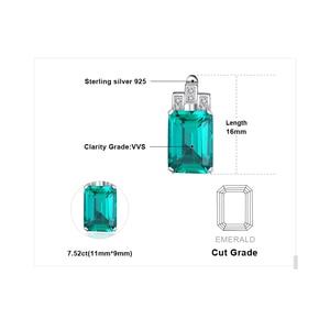 Image 5 - JewelryPalace серьги Для женщин Роскошные 7.6ct создания Изумрудный стерлингового серебра 925 пробы бренд уха ювелирные изделия