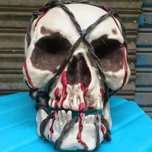 Halloween Human Plastic Skull Decoration Prop Skeleton Head Home Party Decor HG6153