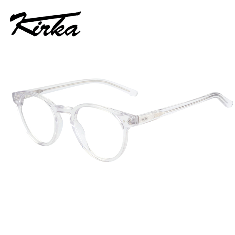 Kirka Transparent Glasses Women Frames Eyeglass Round Glasses Transparent Myopia Glasses Circle Spectacle Frames For Women