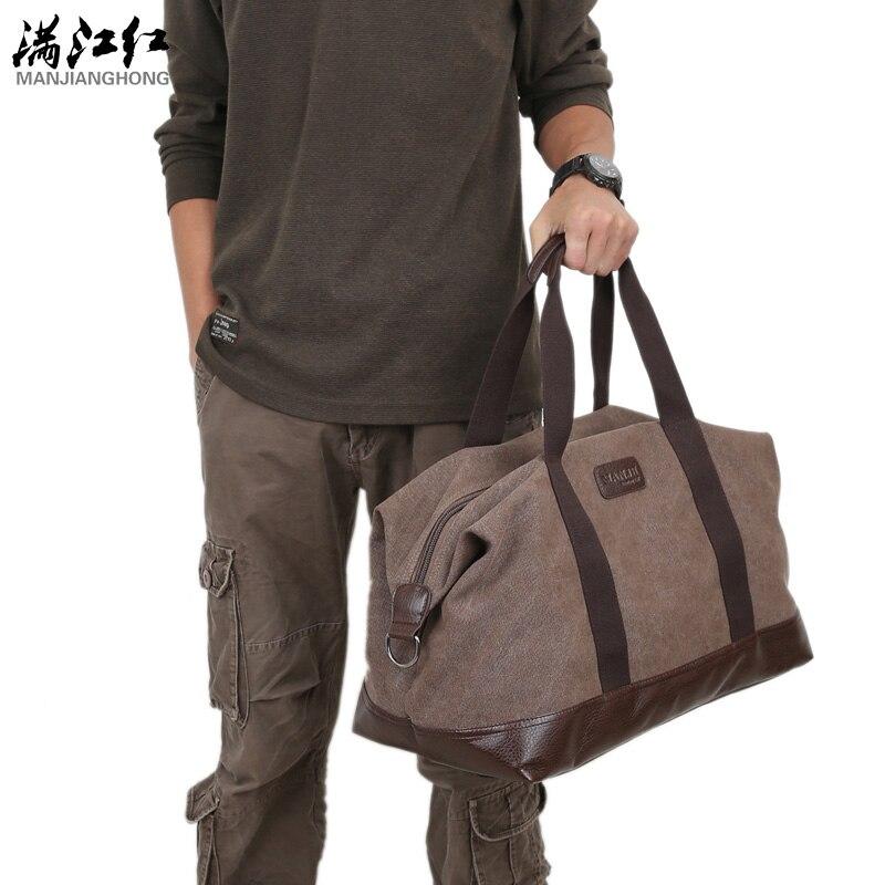 Casual vintage hommes messenger sac de mode toile solide unisexe grande capacité voyage fourre-tout croix-corps classique sac à main