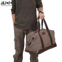 Joypessie Casual Vintage Men Messenger Bag Fashion Canvas Solid Unisex Large Capacity Travel Tote Cross Body