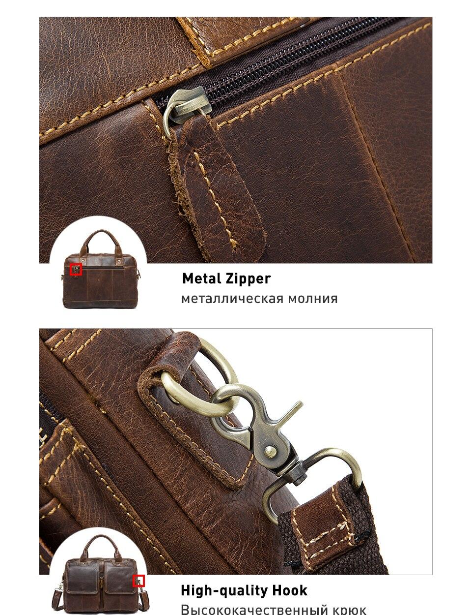 man briefcase genuine leather
