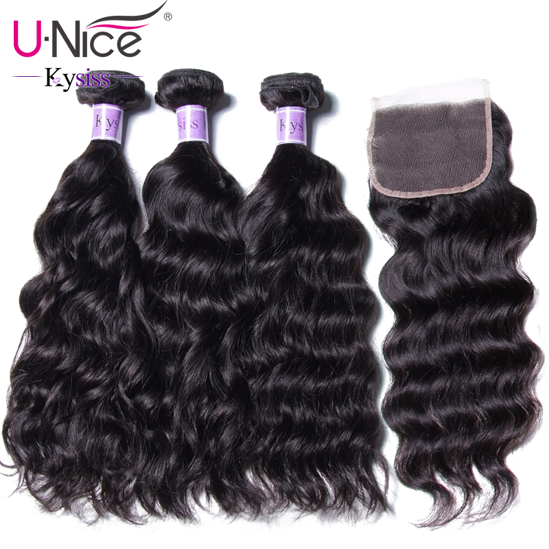 UNice Hair Kysiss Series 8A Indian Natural Wave Closure 4 4 Free Part Lace Closure With