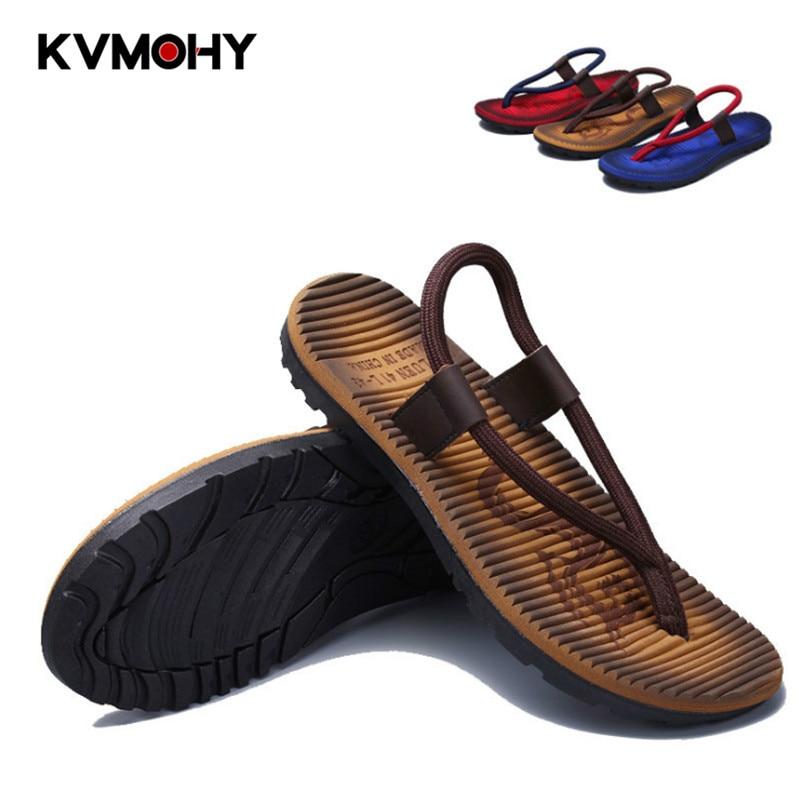 Men Shoes Summer Flip Flops New Slippers Men's  Non-Slip Pinch Toe Shoes Fashion Stripe Slipper Male Chanclas