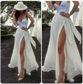 40#8066 Women Skirts 2016 Summer Ladies High Waist Long Skirt Pleated Women chiffon skirt maxi white pleated