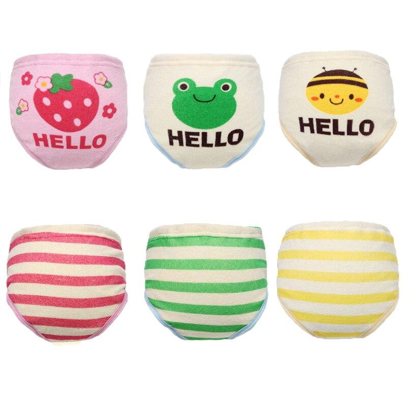 6 unids / set pañales de tela de algodón de seis capas bebé - Pañales y entrenamiento para ir al baño