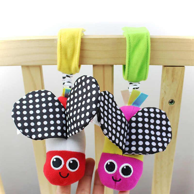 Милая Детская погремушки, Пчела со звуком, милая детская прогулочная коляска с животными, игрушка для детей 0-12 месяцев, плюшевая кровать с бабочкой
