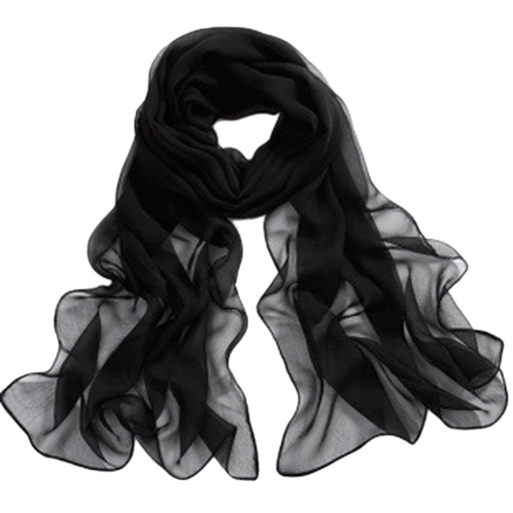 Korean Version Solid-colored Chiffon Scarves Women Long Spring Summer Sun Women's Scarf  Drop Shipping