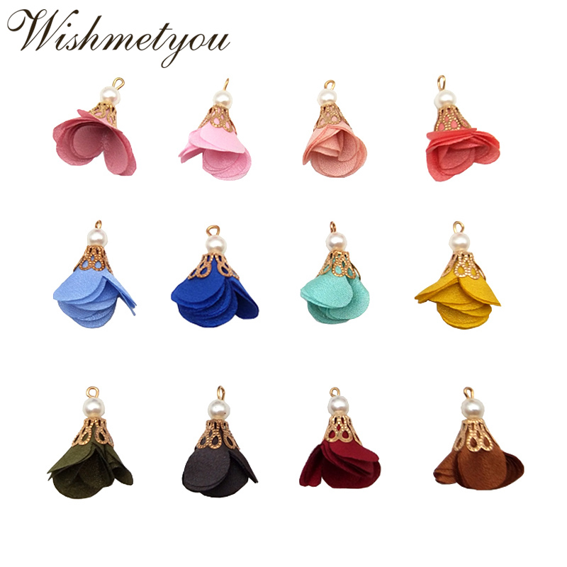 Velvet Tassel Pendant Charms for Bag Craft Decoration 12 Color 4.3cm