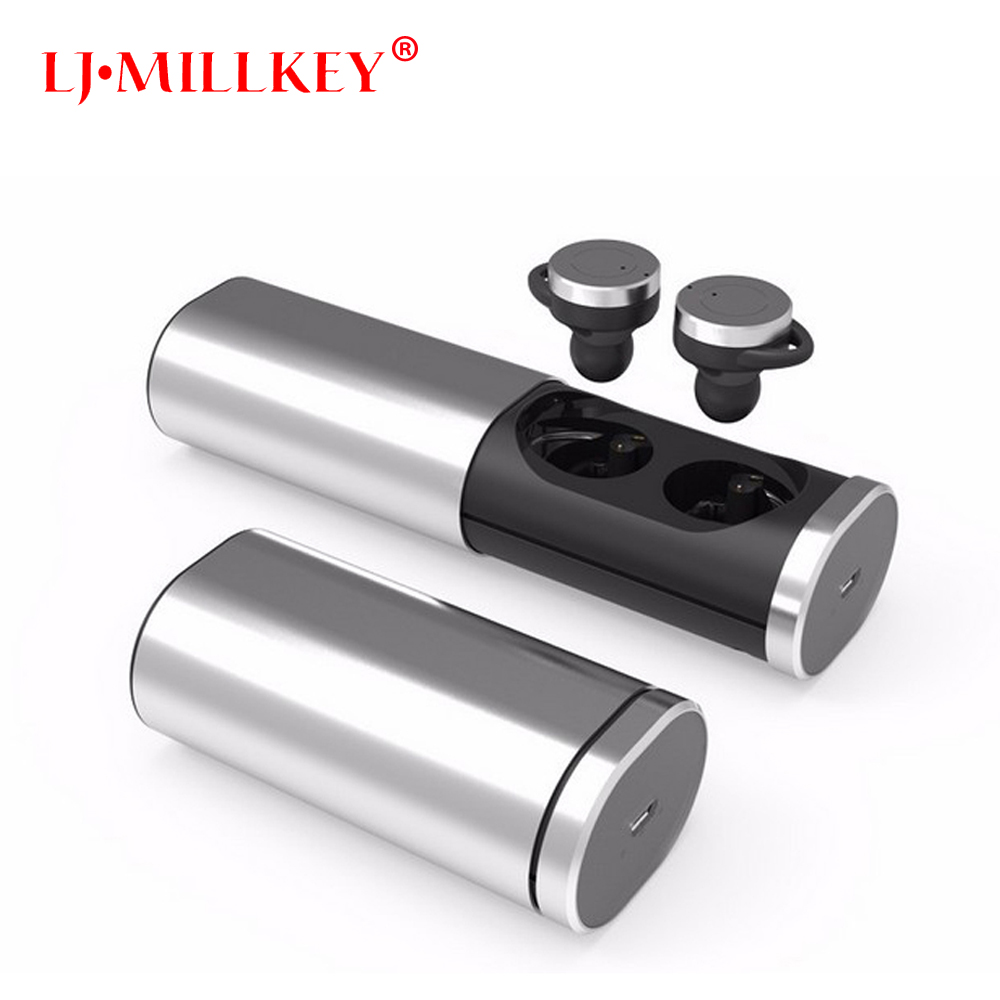 TWS Wireless Bluetooth Headset Earbuds Power Bank Mini Stereo Invisible Style Earphones With Charging Box Mini LJ-MILLKEY YZ115