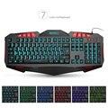 MEMTEQ Backlit Gaming Keyboard Fighting Nation American keyboard Layout Letter Version Computer Wired USB LED Backlight Game NEW