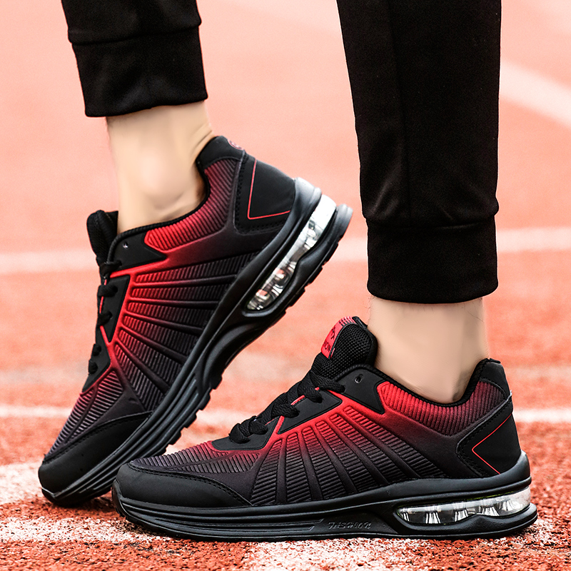 Newest Male Breathable Footwear for Men Sport Sneakers Men Air cushion Sports Outdoor Running Shoes Red Blue deportivas hombreNewest Male Breathable Footwear for Men Sport Sneakers Men Air cushion Sports Outdoor Running Shoes Red Blue deportivas hombre