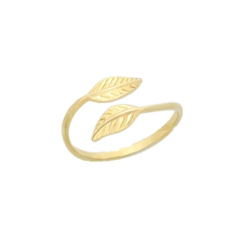 Mode Verstelbare Gold Filled Bladeren Leaf Takken Ringen voor Vrouwen - Mode-sieraden - Foto 2