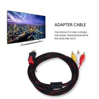 Adapter for PS3 PS4 for Xbox One Wii 5PCS 5ft HDMI Male to RCA Video Audio AV Cable