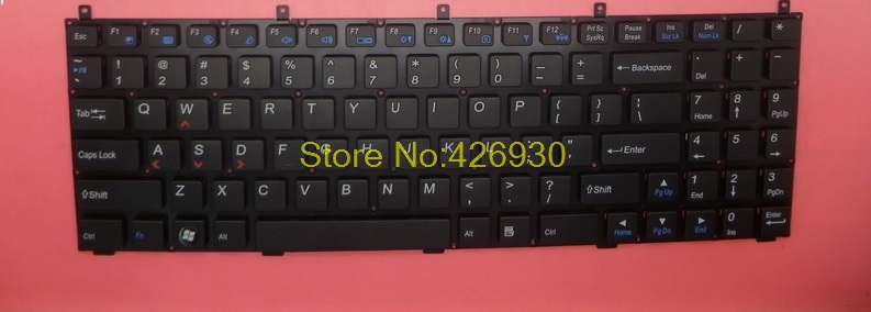 Laptop keyboard without  frame for NS715 NS725 black US series red  lable MP-08J43US-4302 laptop keyboard for asus q503 q503u q503ua black without frame with backlight us 0kn0 sr3us13 0knb0 662nus00