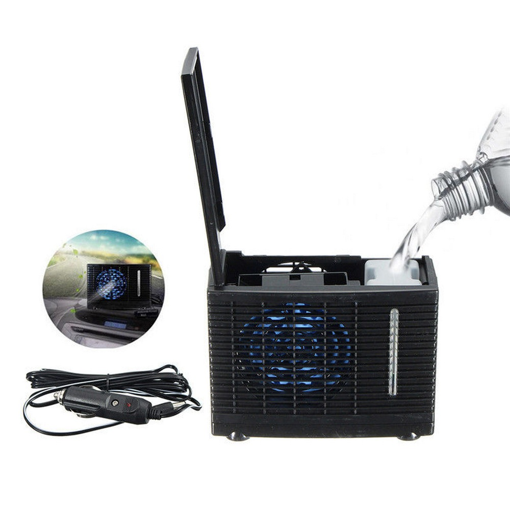 Image 2 - 12V 35W Mini Car Can Add Water Fan 12V Air Conditioning Installation Powered By Car Charger Adapter Car Interiors-in A/C & Heater Controls from Automobiles & Motorcycles