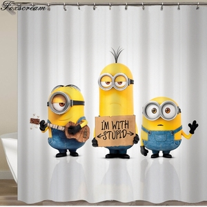 Image 2 - Cortinas para banheiro amarelas, cortinas de banho amarelas de poliéster à prova dágua, cortina ou tapete