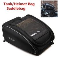 Free shipping 1pcs Waterproof Magnetic Motocross Riding Tank Helmet Luggage Bag Saddlebags Tail Touch Bag Motorcycle Tank Bag