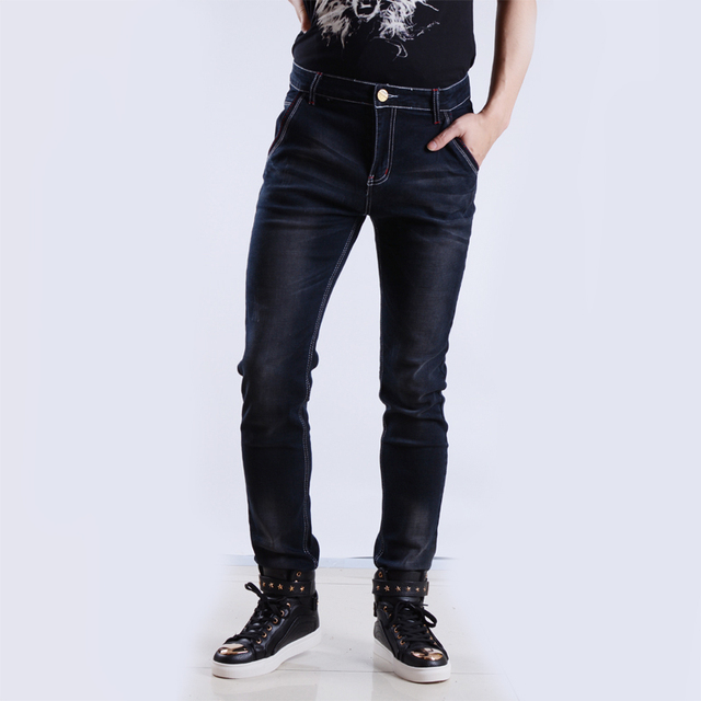 0a68bfed356f1 Siyah Skinny Jeans Erkekler Için Marka Streç Denim Kot Pantolon Mens  Tasarımcı Ince Elastik Rahat Jean