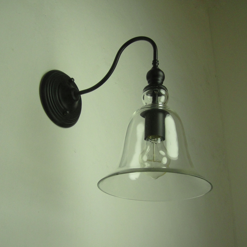 American Country Edison Wall Lamp Glass Modern Wall Sconce For Bed ...