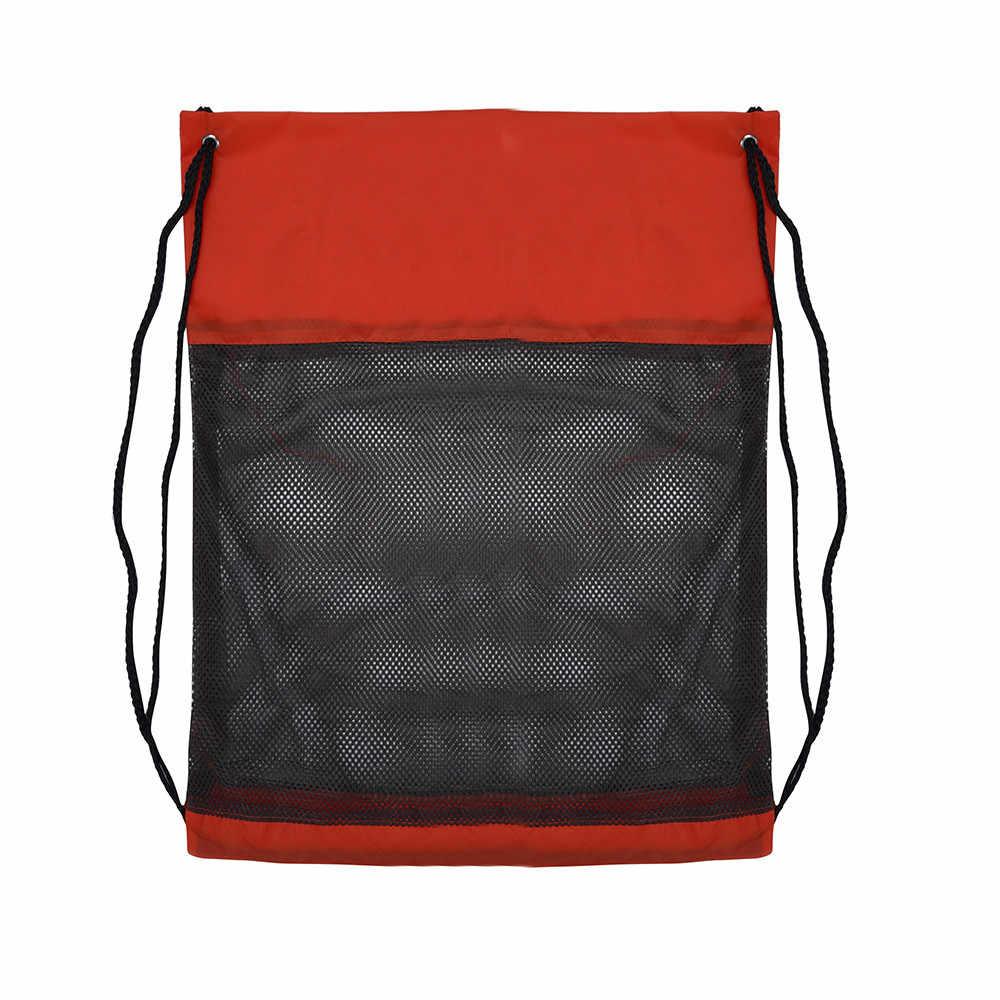 النايلون الرباط أكياس حزام السرج كيس الرياضة شاطئ السفر في الهواء الطلق Netsack الحقيبة الرباط على ظهره المدرسة حقيبة أحذية