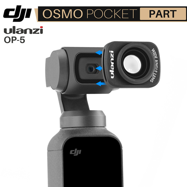 ULANZI OP-5 Wide Angel Lens for DJI Osmo Pocket, Magnetic Wide Angel Camera Lens for DJI OSMO Pocket Accessories